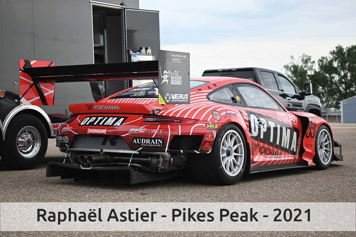 Actualité automobile Raphaël Astier participe à la 99ème édition du Rallye Pikes Peak