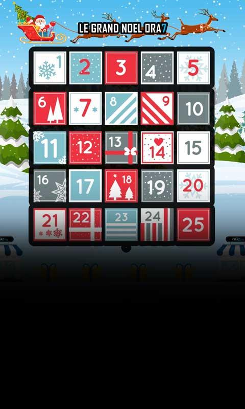 Calendrier de l'avent ORA7 Chaque jour un cadeau ou un avantage