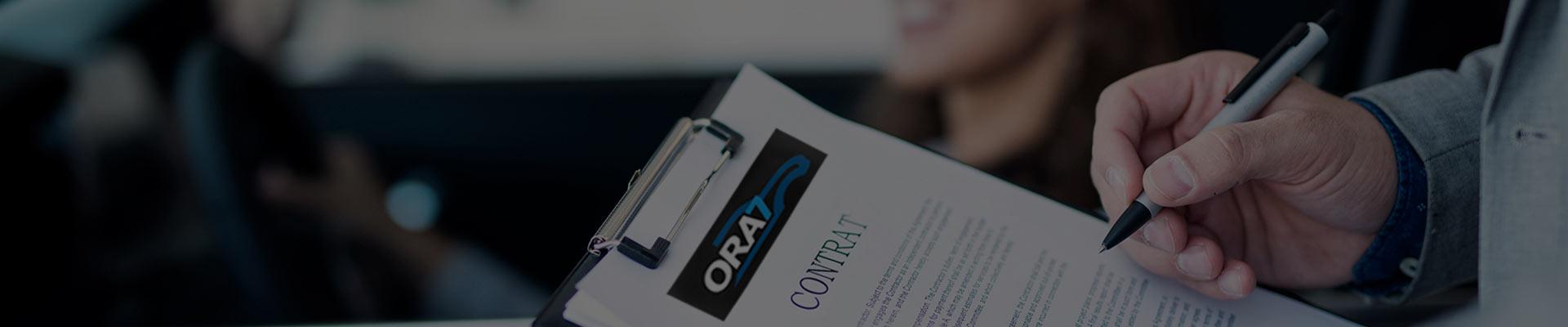 La garantie des véhicules disponibles par ORA7