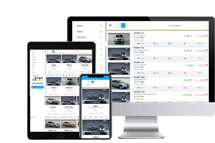 Site web de négoce automobile