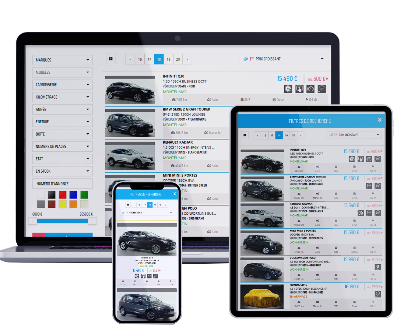 Espace pro automobile multiplatforme