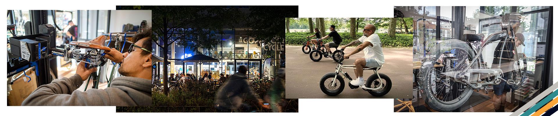 Le magasin et bar de vélo à Lyon Confluence
