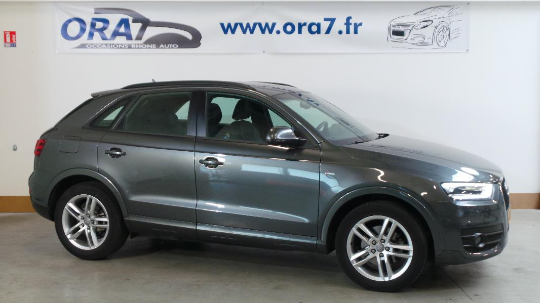 audi q3 2 0 tdi 140ch s line occasion lyon neuville sur sa ne rh ne ora7. Black Bedroom Furniture Sets. Home Design Ideas
