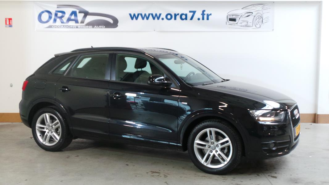 audi q3 2 0 tdi 140ch s line quattro occasion lyon neuville sur sa ne rh ne ora7. Black Bedroom Furniture Sets. Home Design Ideas
