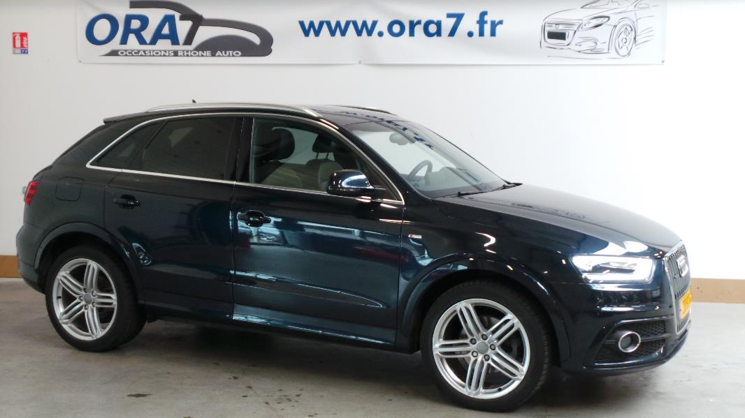 audi q3 2 0 tdi 177ch s line quattro s tronic occasion lyon neuville sur sa ne rh ne ora7. Black Bedroom Furniture Sets. Home Design Ideas