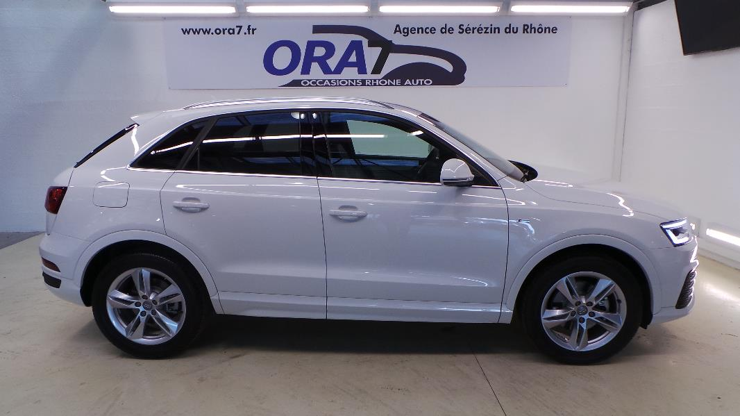 audi q3 2 0 tdi 184 s line quattro s tronic occasion lyon s r zin rh ne ora7. Black Bedroom Furniture Sets. Home Design Ideas