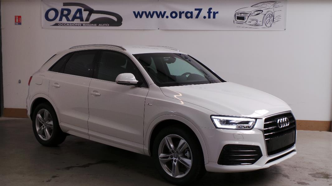 audi q3 2 0 tdi 184 s line quattro s tronic occasion lyon neuville sur sa ne rh ne ora7. Black Bedroom Furniture Sets. Home Design Ideas