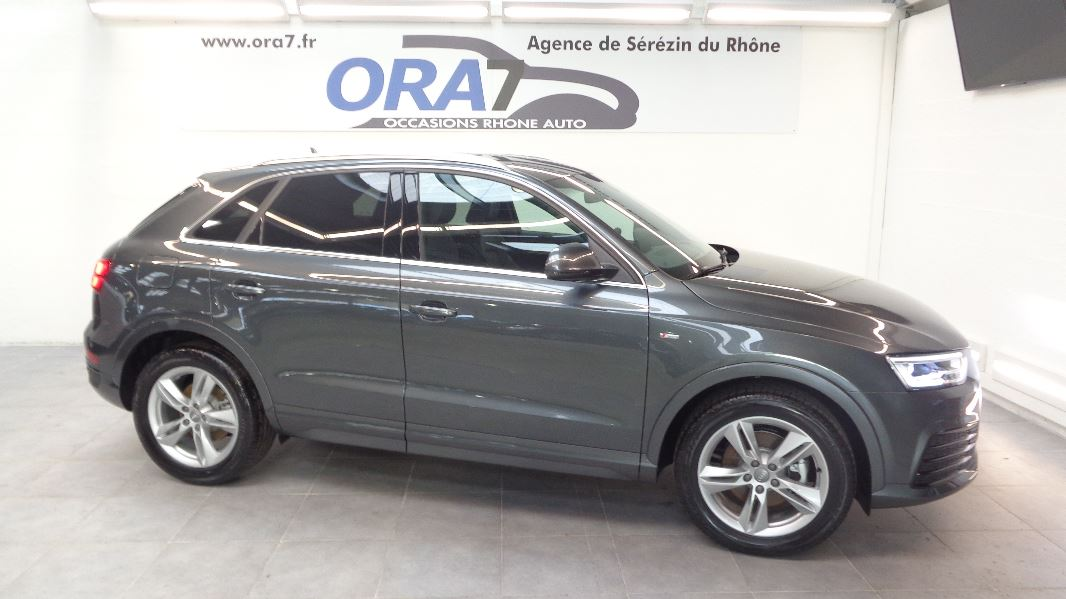 audi q3 2 0 tdi 184 s line quattro s tronic 7 occasion lyon s r zin rh ne ora7. Black Bedroom Furniture Sets. Home Design Ideas