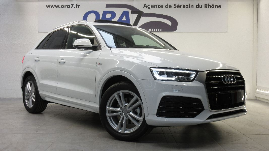 audi q3 2 0 tdi 150 s line quattro s tronic 7 occasion lyon s r zin rh ne ora7. Black Bedroom Furniture Sets. Home Design Ideas