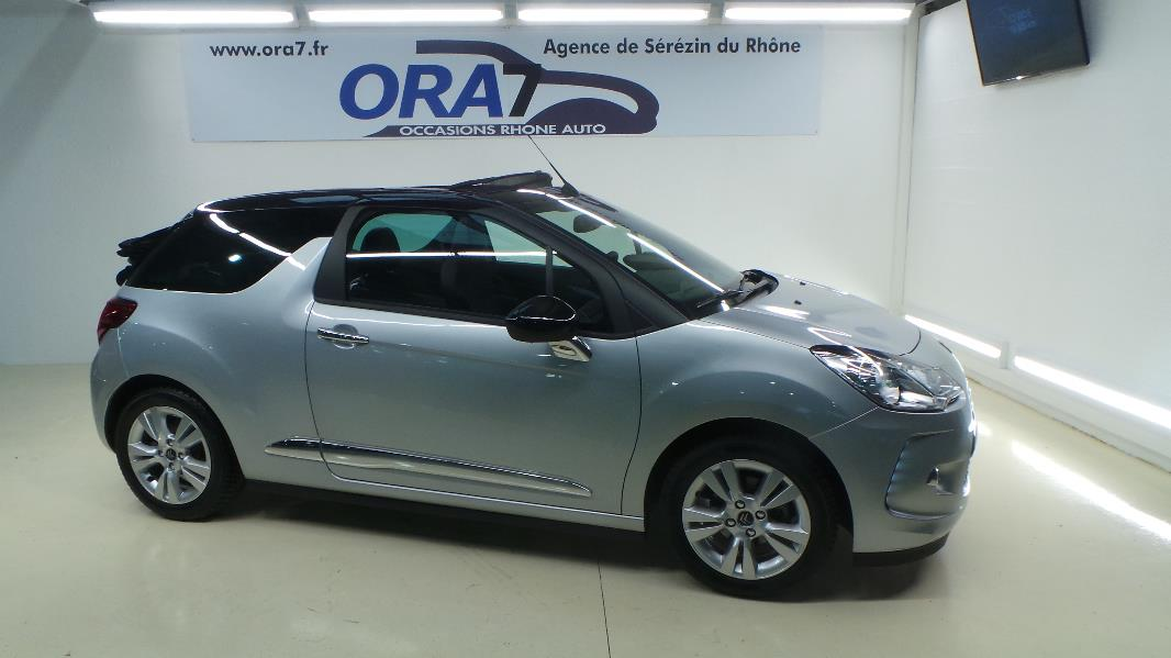 citroen ds3 cabrio 1 6 vti so chic 6cv occasion lyon s r zin rh ne ora7. Black Bedroom Furniture Sets. Home Design Ideas
