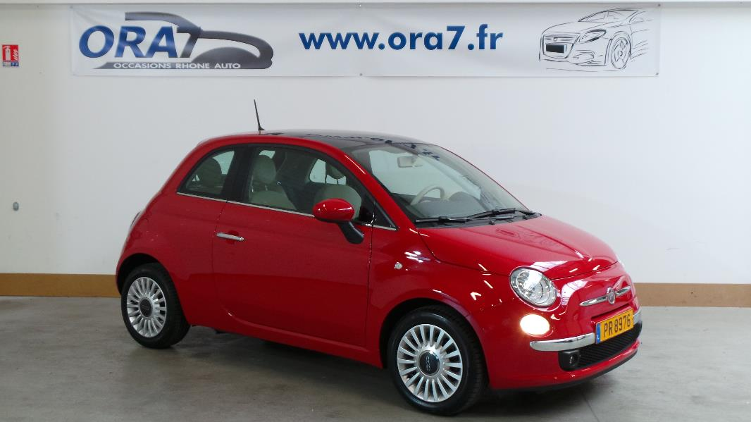 fiat 500 0 9 8v twinair 85ch lounge stop start dualogic occasion lyon neuville sur sa ne. Black Bedroom Furniture Sets. Home Design Ideas