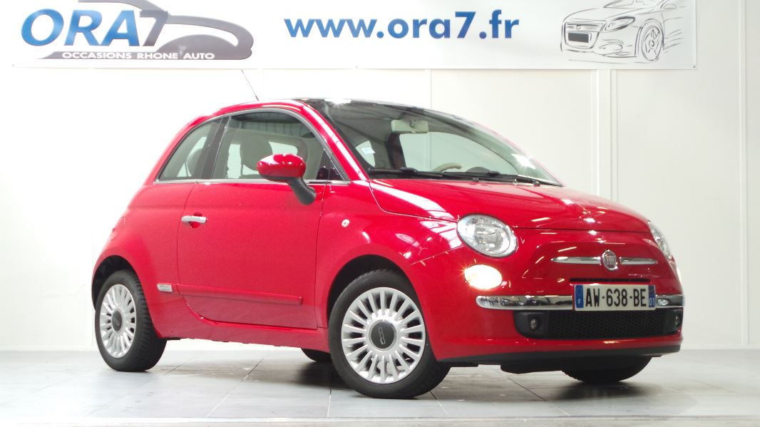 fiat 500 1 2 8v 69ch s s lounge occasion lyon neuville sur sa ne rh ne ora7. Black Bedroom Furniture Sets. Home Design Ideas